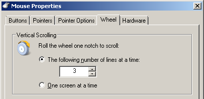 Mouse Wheel Properties