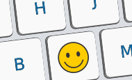 Keyboard with a smile